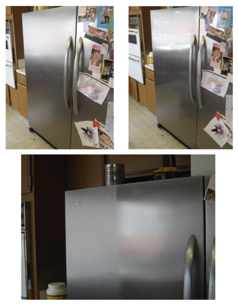 Stainless Steel Fridge Cleaned with Flitz